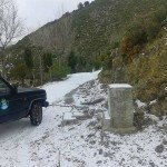 Primera nevada del año en Peña Escrita