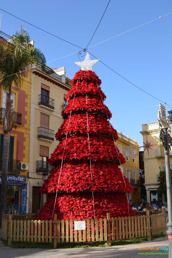 Arbol de Navidad en la plaza del Ayuntamiento de Almuñécar