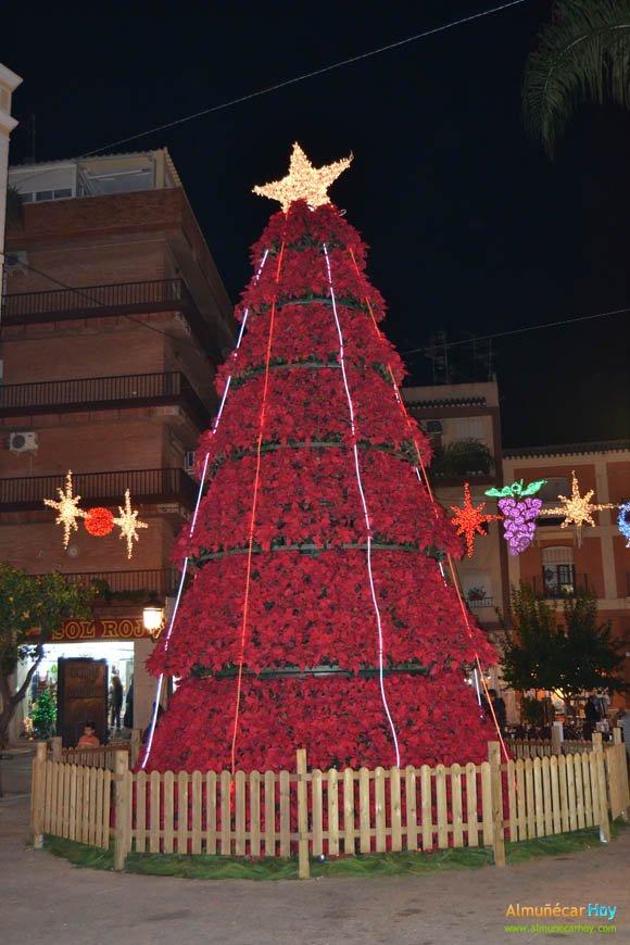 Arbol de Navidad en la Plaza del Ayuntamiento sexitano