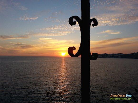 Atardecer desde el Peñón del Santo en Almuñécar