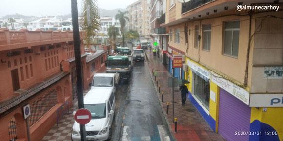 Foto de las obras para derribar el Mercado de Almuñécar