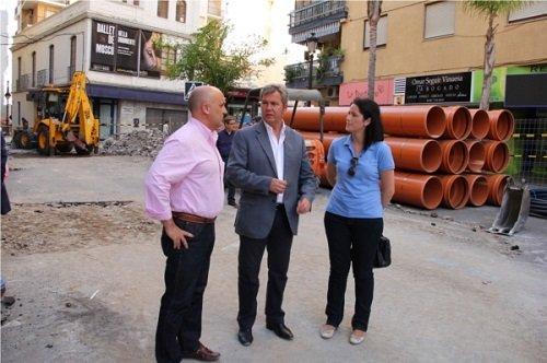 Obras en la avenida de Andalucía y la Plaza de Madrid