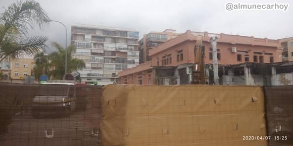 Foto de las obras del Mercado de Almuñécar