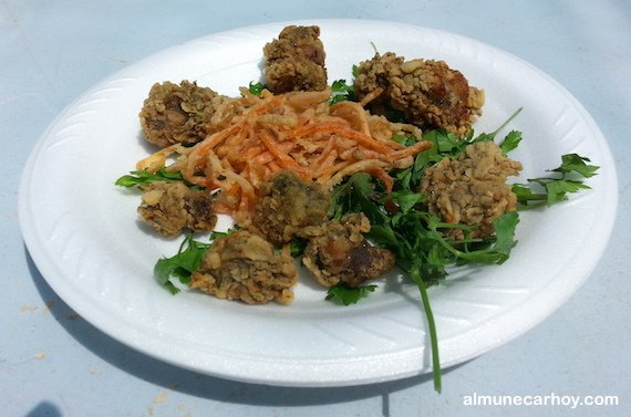 Ortiguillas fritas con verduras crujientes