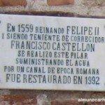 Placa del Pilar de la Calle Real de Almuñecar