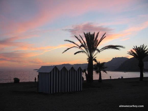 Puesta de sol en la Playa de San Cristóbal