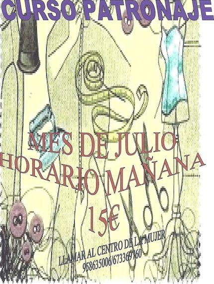 Curso de Patronaje en Almuñecar
