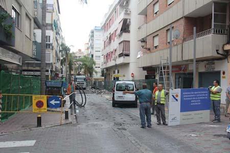obras de rehabilitación de la Avenida de Andalucía