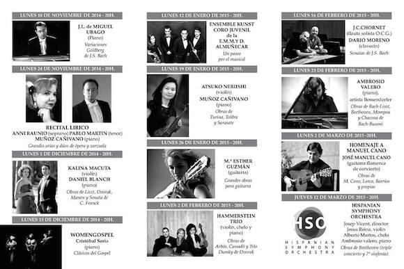Juventudes Musicales de Almuñécar ofrecerá un total de dieciocho conciertos en la nueva temporada de concierto 2014 – 2015