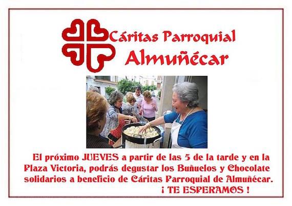 Buñuelos y Chocolate solidarios a beneficio de Cáritas Parroquial de Almuñécar