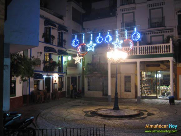 Plaza de la Rosa - Navidad 2010 en Almuñécar