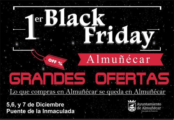 Black Friday, finde semana negro de ofertas  en Almuñécar