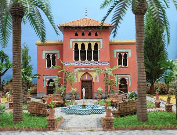 Casa de La Najarra en el Belén de la Cofradía del Nazareno de Almuñécar