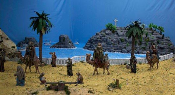 Reyes Magos con el Peñón del Santo