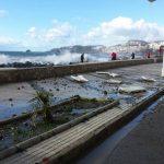 Daños del temporal en el Paso Reina Sofía de Almuñécar