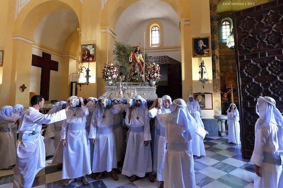 La Borriquita , Después de 22 años vuelve a salir desde el interior de la Iglesia de la Encarnación.