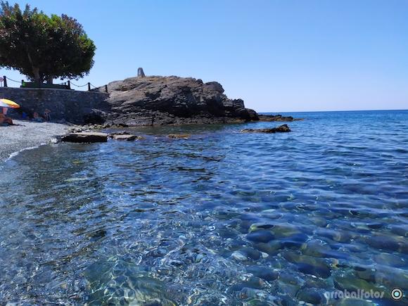 Roca en la Playa de Cotobro junto al Paseo de Cotobro frente al Hotel