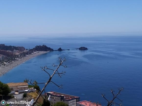 Playa de San Cristobal vista desde Cotobro, el 20 de Junio de 2020 después de tres meses de confinamiento por el Estado de Alarma por el COVID-19