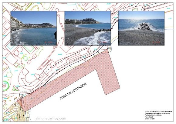 Plano de regeneración de la Playa de la Caletilla