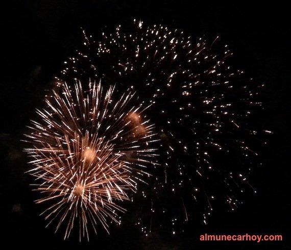 Fuegos artificiales Almuñécar 2015