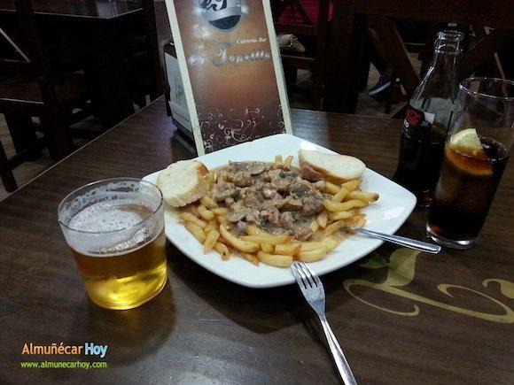 Tapa de carne en salsa del Bar Er Tapeillo de Almuñécar