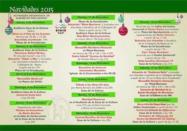 Actividades Navidad 2015 en Almuñécar