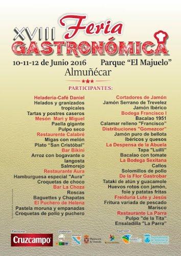 Tapas de la Feria Gastronómica de Almuñécar 2016