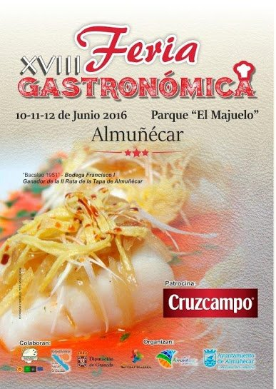 Cartel de la XVIII Feria Gastronómica de Almuñécar