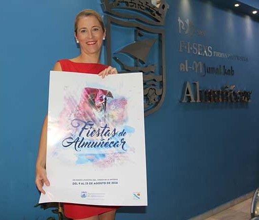 María del Mar Medina presenta el cartel de la Feria de Almuñécar