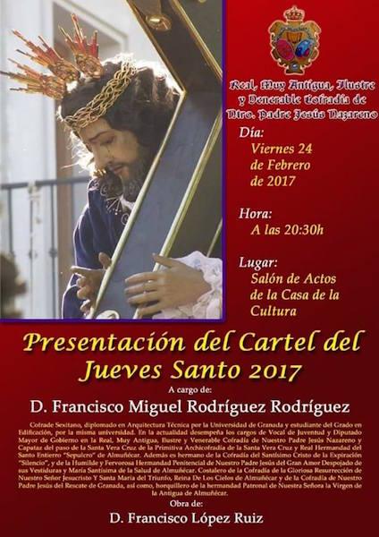 presentacion Cartel 2017 de la Cofradía del Nazareno de Almuñécar