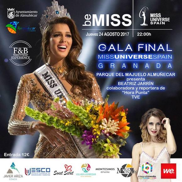 Gala Miss Universo en el Parque El Majuelo de Almuñécar