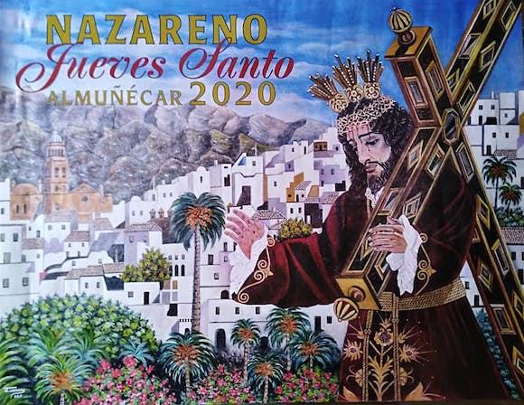 cartel de la Real Cofradía Nazareno de Almuñécar de la Semana Santa 2020,