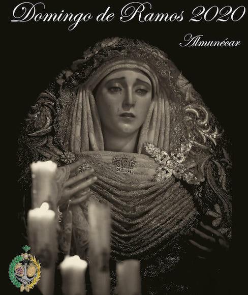 cartel anunciador del Domingo de Ramos 2020 - Humilde y Fervorosa Hermandad de Penitencia de Nuestro Padre Jesus del Gran Amor Despojado de sus Vestiduras y María Santísima de la Salud de Almuñécar