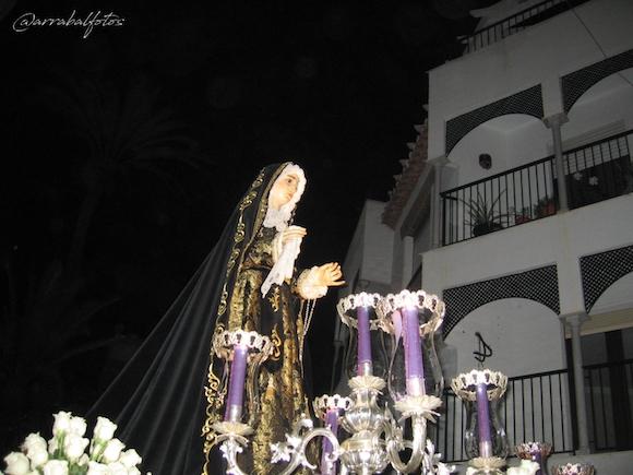 María Santísima del Consuelo de la Cofradía del Santísimo Cristo del Perdón, María Santísima del Consuelo, Ntra. Sra. del Carmen, Santas Verónica y María Magdalena de Almuñécar