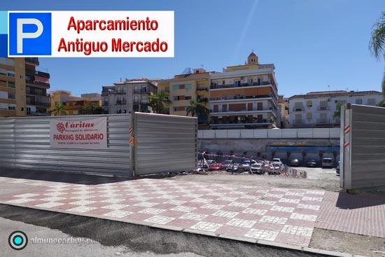 El antiguo Mercado de Almuñécar se ha reconvertido en aparcamiento solidario gestionado por Caritas de Almuñécar.