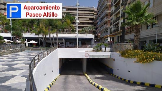 Entrada-Salida del Parking del Paseo del Altillo por el Paseo Marítimo de Almuñécar