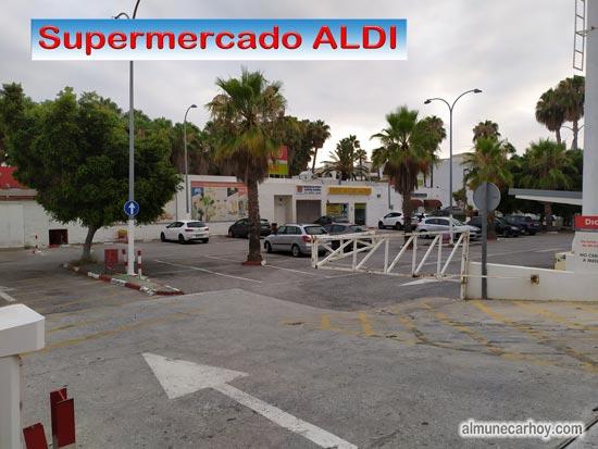 Aparcamiento del Supermercado DIA donde se va a construir el Nuevo Supermercado Aldi Almuñecar